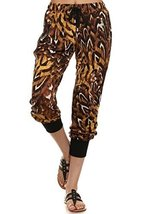 ICONOFLASH Women's Printed Joggers with Elastic Waistband & Pockets (Feathere... - $28.70