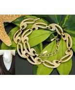 Vintage Monet Choker Necklace Swirl Large Link Gold Tone Adjustable - $18.95