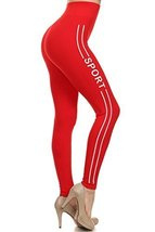 """ICONOFLASH Women's Stretchy Athletic Leggings with """"Sport"""" Side Lettering (Re... - $15.83"""