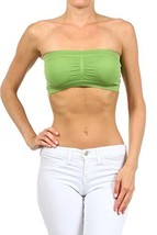 ICONOFLASH Women's Bandeau Top with Removable Pads (Apple Green) [Apparel] - $8.17