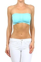 ICONOFLASH Women's Bandeau Top with Removable Pads (Candy Blue) [Apparel] - $8.17