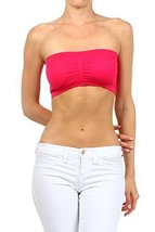ICONOFLASH Women's Bandeau Top with Removable Pads, Fuchsia [Apparel] - $8.17