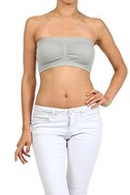 ICONOFLASH Women's Bandeau Top with Removable Pads, Gray [Apparel] - $8.17