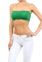 ICONOFLASH Women's Bandeau Top with Removable Pads, Kelly Green [Apparel] - $8.17