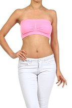 ICONOFLASH Women's Bandeau Top with Removable Pads (Light Pink) [Apparel] - $8.17
