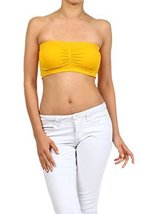 ICONOFLASH Women's Bandeau Top with Removable Pads (Mustard) [Apparel] - $8.17