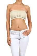 ICONOFLASH Women's Bandeau Top with Removable Pads (Oyster) [Apparel] - $8.17