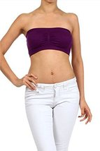 ICONOFLASH Women's Bandeau Top with Removable Pads (Purple) [Apparel] - $8.17
