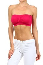 ICONOFLASH Women's Bandeau Top with Removable Pads, Raspberry [Apparel] - $8.17