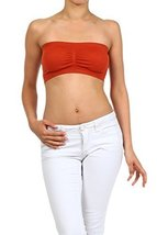 ICONOFLASH Women's Bandeau Top with Removable Pads, Rust [Apparel] - $8.17
