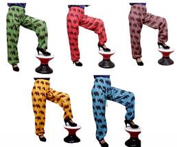 10Pcs Ladies Gypsy Hippie Afghani Cotton Elephant Design Pants Wholesale... - $70.99