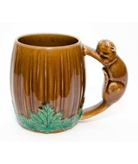 Vintage 1950s Beaver Handle Coffee Mug Leaf Hand Painted Shefford Japan ... - $21.78