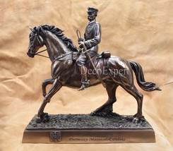 First Marshal of Poland Jozef Pilsudski on horse Józef Piłsudski na Kasz... - $199.00