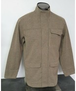 Mens Royal Robbins Brown/Green Jacket Size Large L Wool Full Zip - $39.59