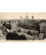c1910 - Tower of London from Tower Bridge, London, England - Unused - $2.99