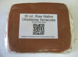 30 oz. Raw Native Oklahoma Terracotta Clay By Red Earth Seeds - $14.99