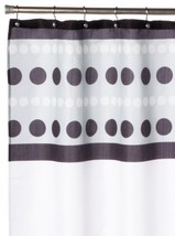 Carnation Home Fashions Metro Fabric Shower Curtain, Black [Misc.] - $10.39