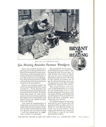 1928 Bryant Gas Heating Banishes Furnace Drudgery print ad - $10.00