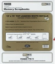 Pioneer Postbound 5 Inch by 7 Inch White Top Loading Refill Pack  - $12.99