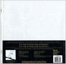 """Westrim Strap Hinge Top-Loading Page Protectors, 12""""x12""""  White 10 Pack - $24.99"""