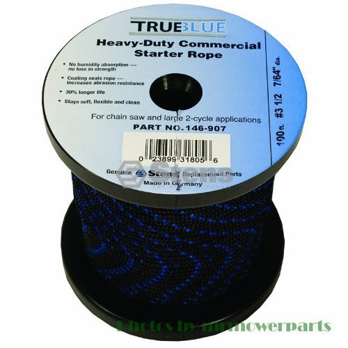 Silver Streak # 146907 100' True Blue Starter Rope for #3 1/2 Solid Braid#3 1...