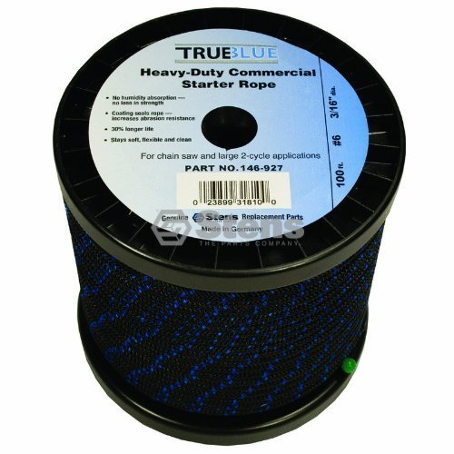 Silver Streak # 146927 100' True Blue Starter Rope for #6 Solid Braid#6 Solid...