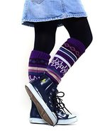 Fashion Mic Kid's Fun and Cute Legwarmers - Holiday (kids one size, purple) - $9.89