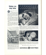 1945 General Electric aids to better sleeping print ad - $10.00