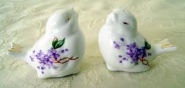 Bone China Bird Salt & Pepper Shaker Set, Lilac Pattern - $20.00