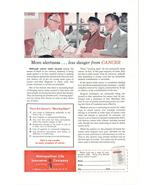 1951 Metropolitan Life Insurance cancer warning sign ad - $10.00