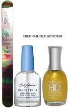 Sally Hansen Hd Hi Definition Nail Color 05 Lite Plus Double Duty + Free Nail... - $6.85
