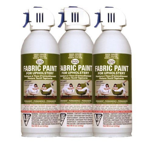 simply spray upholstery fabric spray paint 3 pk sage green sewing. Black Bedroom Furniture Sets. Home Design Ideas