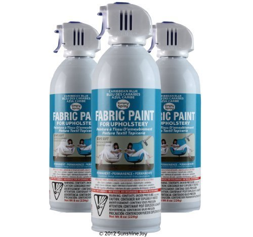 simply spray upholstery fabric spray paint 8 oz can 3 pack caribbean. Black Bedroom Furniture Sets. Home Design Ideas