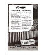 1943 GM Buick Brass war goods calibre shell print ad - $10.00