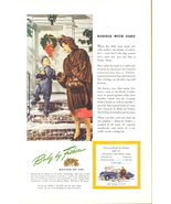 1946 Fisher car steel body Cadillac monther & son print ad - $10.00