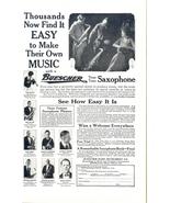 1923 Buescher Saxophone famous player Instrument print ad - $10.00