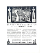 1936 Sherwin Williams Beauty & Protection Paints ad - $10.00