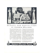 1937 Sherwin Williams Beauty & Protection Paints ad - $10.00