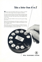 1951 Bell Telephone Round Telephone Number Dialer print ad - $10.00
