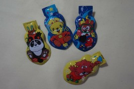FOUR 4 Pieces New in Bag Vintage Tin Toy Animal Cricket Clickers Made in... - $6.88
