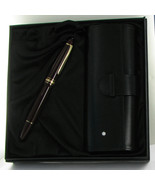 Montblanc 147R Traveller Legrand Bordeaux FP Pen Leather Case Med Nib Gi... - $882.69