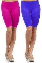 Fashion Mic Women Knee Length Seamless Slip Shorts (One Size, 2pack... - $10.88
