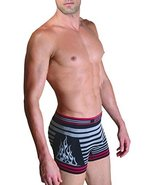 Fashion Mic Men's Basic Casual Seamless Underwear-Stripe and Side Flame ... - $7.91