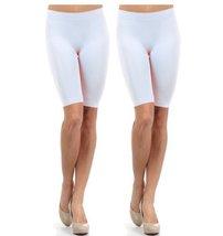 Fashion Mic Women Girls Seamless Slip Short (One Size, 2 pack: whit... - $15.83