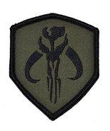 Mandalorian Bantha Skull Mercenary 3x2.5 Shield Military Patch / Morale ... - $4.89