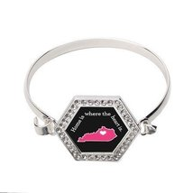Kentucky State Heart Hexagon Bracelet [Jewelry] - $14.20