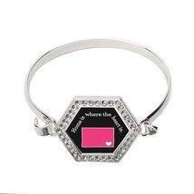 Wyoming State Heart Hexagon Bracelet [Jewelry] - $14.20