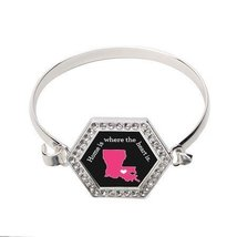 Louisiana State Heart Hexagon Bracelet [Jewelry] - $14.20