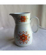 Colditz Vtg Mid Century Coffee Tea Carafe Pot MCM Daisy Orange Flowers 1... - $38.69