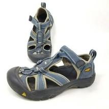 Keen Kids Size 2 Venice H2 Hiking Sandals Blue Hook & Loop Waterproof 10... - $16.67